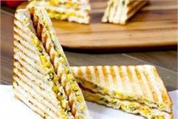 घर पर बनाएं Corn Capsicum Sandwich
