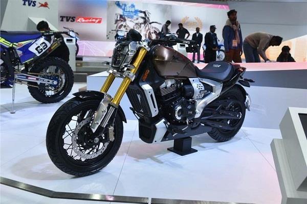 Auto Expo 2018: टीवीएस ने लांच किया जेपलिन क्रूजर मोटरसाइकिल