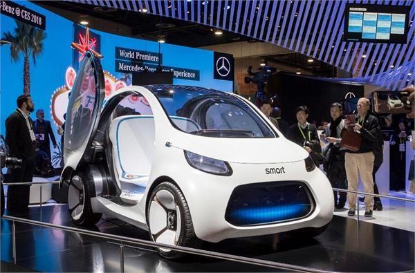 MWC 2018: मर्सिडीज ने दिखाई मोबाइल से चलने वाली फ्रूच्यूरिस्टिक कार