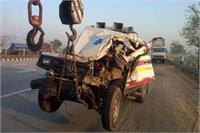 मथुरा: खड़ी ट्रैक्टर ट्राली में घुसी तेज रफ्तार एंबुलेंस, 2 की दर्दनाक मौत