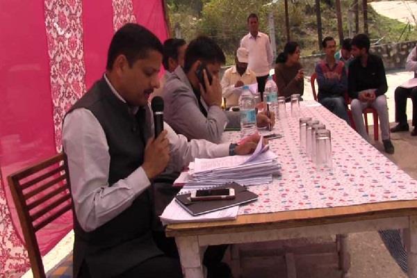 रुद्रप्रयाग में जनसुनवाई कार्यक्रम का हुआ आयोजन, जिलाधिकारी ने विभाग को दिए निर्देश
