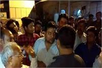 भू-माफियाओं के खिलाफ व्यापारियों ने किया प्रदर्शन, चौकी प्रभारी पर लगाए गंभीर आरोप