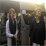 जर्मन के राष्ट्रपति फ्रेंक वाल्टर की पत्नी पहुंची आगरा, एसिड अटैक सर्वाइवर से की मुलाकात