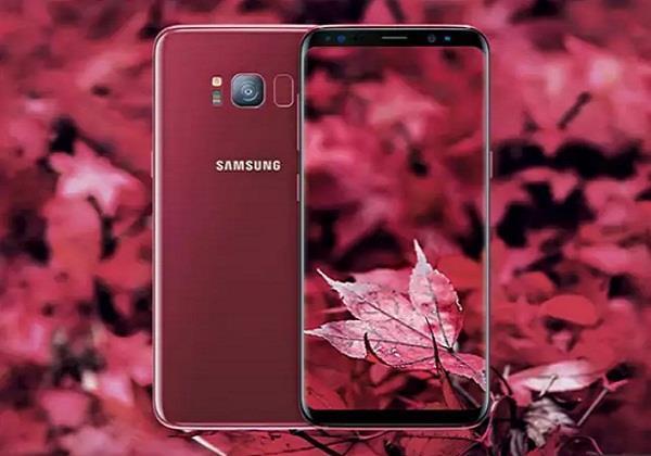 बिक्री के लिए उपलब्ध हुआ सैमसंग Galaxy S8 का Burgundy रेड कलर वेरियंट