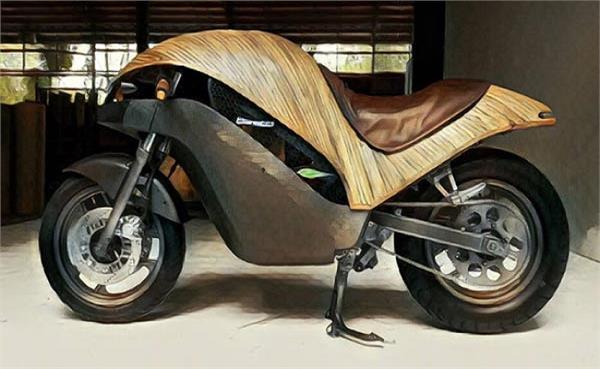 बांस से बनी है ये शानदार इलैक्ट्रिक बाइक, टॉप स्पीड 120 kmph