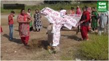 महिलाओं ने दशहरा तो मनाया लेकिन रावण का पुतला जलाकर नहीं