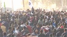 लश्कर कमांडर बांगरू के जनाजे पर लहराए गए पाक और ISIS के झंडे