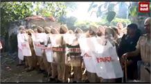 अमृतसर हादसे का विरोध कर रहे लोगों का पुलिस से हुआ टकराव