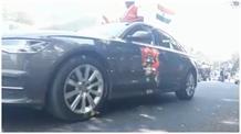 वर्ल्ड पोलियो-डे के उपलक्ष्य में निकाली कार रैली