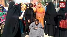 नाहिदा को इंसाफ दिलवाने के लिए सड़कों पर उतरे लोग, ससुराल पक्ष पर लगाए गंभीर आरोप