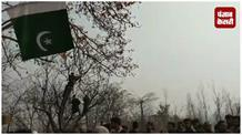 आतंकियों के जनाजे में लगे आज़ादी के नारे, पाकिस्तान का फहराया झंडा