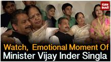 Watch,  Emotional Moment Of Minister Vijay Inder Singla