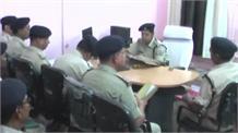 रेल एसपी ने जीआरपी अधिकारियों के साथ की बैठक
