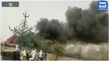 आग की लपटों से राख हो गईं रोहिंग्या मुसलमानों की झोपड़ियां