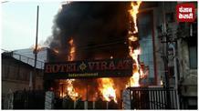 लखनऊ में 2 होटलों में लगी भीषण आग, 5 की मौत