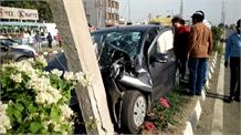 पानीपत फ्लाई ओवर पर भयंकर सड़क हादसा, 4 घायल