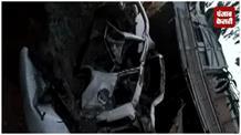 बालू लदा ट्रक इनोवा पर पलटा, दब कर 5 की मौत