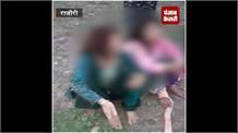 बेटे की बेरहमी, मां-बहन को घसीट-घसीटकर लाठियों से पीटा, वीडियो वायरल