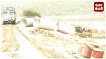 अवैध खनन के विरोध में आए अपना दल विधायक, सोन नदी में अस्थायी पुल बनाए जाने का किया विरोध