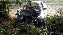 टैंकर की जोरदार टक्कर से कार के उड़े परखच्चे, एक ही परिवार के 5 लोगों की मौत