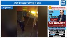 ढाबे पर खड़े ट्रकों से तेल निकालते करते पकड़ा गया चोर, वीडियो वायरल