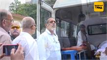 Satish Shah at Rita Bhaduri's funeral