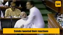 B-town reacts to Rahul Gandhi & PM Modi Hug