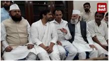 आरएलडी नेता जयन्त चौधरी पहुंचे संभल