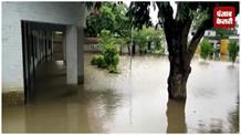 खांदी कटने से गांव में भरा पानी, ग्रामीण परेशान