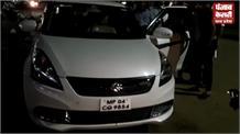 कांग्रेस के वरिष्ठ नेता की कार पर पथराव