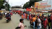 दामिनी ई कोह  को संथाल परगना से अलग करने की मांग के साथ पहाड़ियों ने नेिकाली रैली