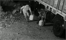 सोनभद्र में ट्रकों से डीजल चोरी की घटना CCTV में हुई कैद