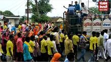 गणतंत्र पार्टी के कार्यकर्ताओं का डीजे वाला जुलूस, हंगामे के साथ लाखों का मजमा