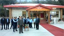 सांसद रामस्वरूप शर्मा ने भुंतर हवाई अड्डे पर किया आगंतुक कक्ष का उद्धाटन