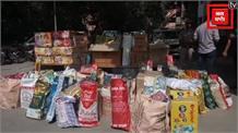 अवैध रुप से बेचे जा रहे करीब 700 किलो पटाखे बरामद
