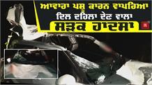 आवारा पशु के साथ टकराई कार , देखे Video