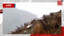 देखिए Lahaul में ताजा बर्फबारी