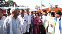 Gurugram में Congress का विरोध प्रदर्शन, सरकार को घेरती नजर आई Kumari Selja