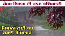 जानिए Rain को लेकर मौसम विभाग की ताज़ा Forecast