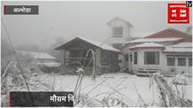 पहाड़ों पर दूर-दूर तक फैली बर्फ, Snow Fall अभी जारी है...