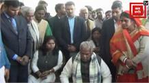 दुष्कर्म के बाद युवती की हत्या , पूर्व सीएम जीतन राम मांझी ने पीड़ित परिवार से की मुलाकात