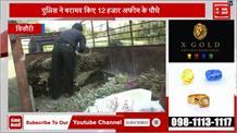 पुलिस की बड़ी कार्रवाई, 12 हजार अफीम के पौधे बरामद किए