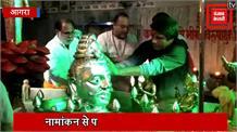 नामांकन से पहले मंदिर पहुंचे राज बब्बर, महादेव से मांगा जीत का आर्शीवाद