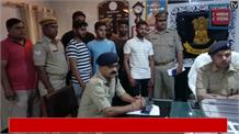 पुलिस की गिरफ़्त में अपराधी, 3 करोड़ की शराब पर चली बुलडोजर