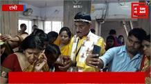 रांची: बीजेपी प्रत्याशी संजय सेठ ने की पूजा अर्चना