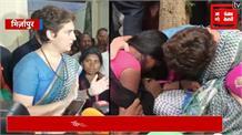 पीड़ित परिवारों से मिलने के बाद प्रियंका ने खत्म किया धरना, कहा- मेरा मकसद पूरा हुआ