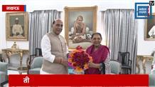 अपने संसदीय क्षेत्र पहुंचे रक्षामंत्री राजनाथ सिंह, राज्यपाल आनंदीबेन से की मुलाकात