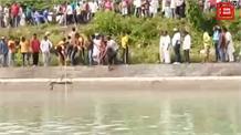 पांवटा साहिब में नदी में गिरी कार, देखिए कैसे निकाली बाहर, सभी सवार लापता