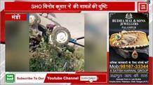 मंडी में नगर परिषद का ट्रैक्टर दुर्घटनाग्रस्त