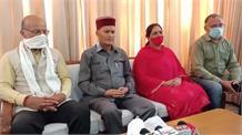 विधायक अनिल शर्मा के बाद भाजपा सांसद रामस्वरूप शर्मा ने किया पलटवार